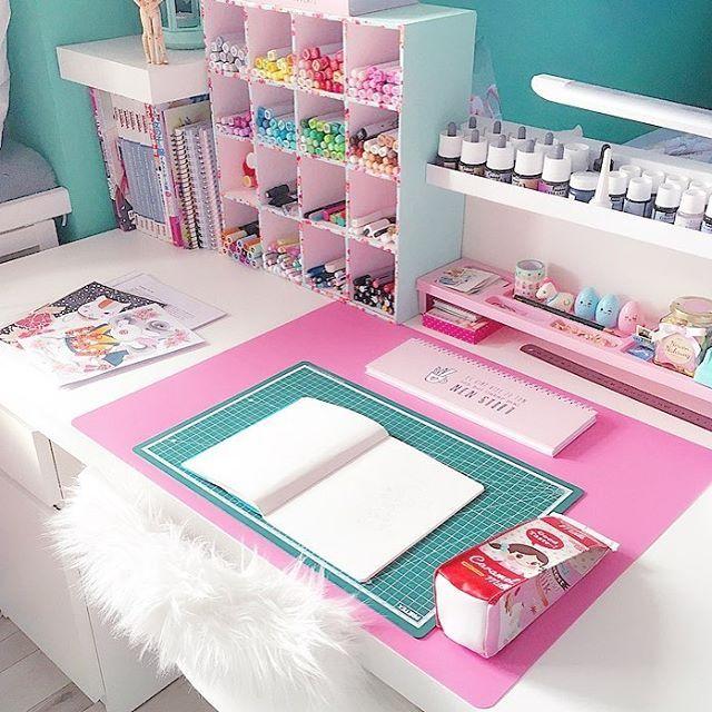 "9,248 Likes, 105 Comments - Otaku (@annimint) on Instagram: ""My newly organized desk. Hope u like it?! ☺ i Love to decorate my room . . . Partnerseiten:…"""