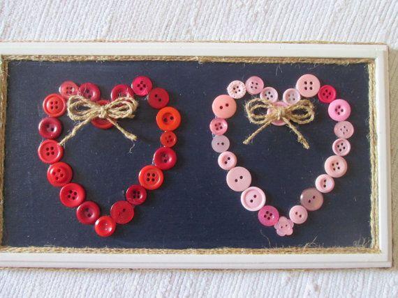 Cadre Saint-Valentin 2 cœurs/ Centre St Valentine's Day 2