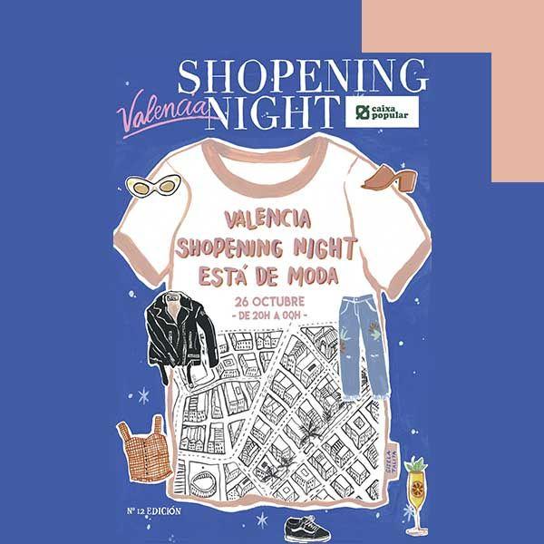 Aprovechando el buen tiempo esta noche disfrutaremos de una nueva edición de la #Valencia @shopeningnight http://shopeningnight.es
