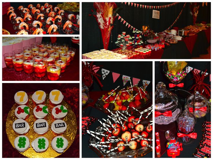 vegas themed party   Food was a plenty! Casino themed sweets, novelty candies from the 80 ...