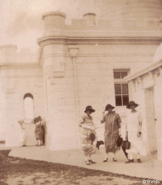 At Byron Bay Lighthouse. From photograph album -  Many of holidays in Brunswick Heads. 1919 - 1924 Photographs taken by Addie Argue / Byrnes.