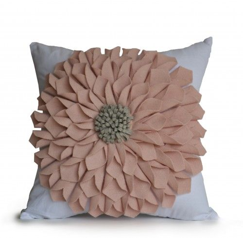 Details  Large felt flower in good quality felt on cotton pillow case. The big flower is sure to brighten your day and bring cheer to a couch or bedding. These make great gifts and can be used in the