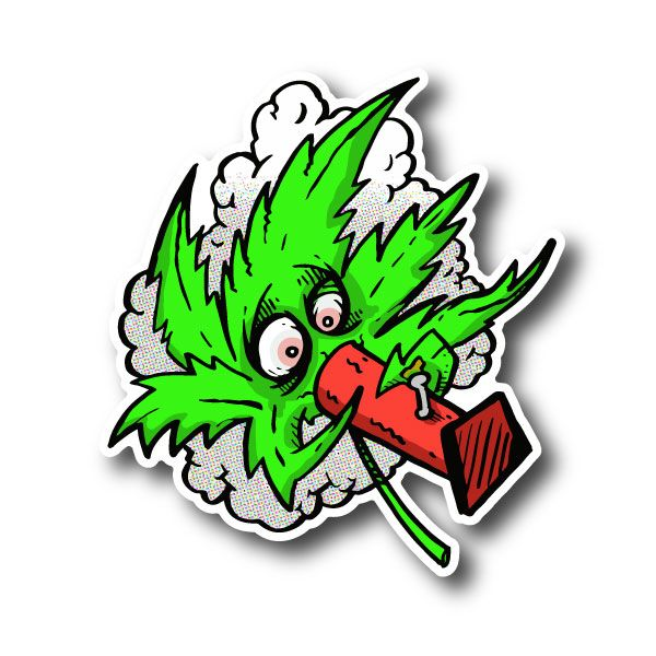 Weed Leaf Smoking Bong Sticker | Vinyl Stickers | Marijuana Stickers | Clear Stickers