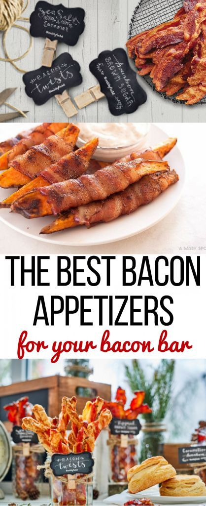 Throw a bacon bar for your holiday parties this year! 5 awesome bacon appetizer ideas to make sure your bacon bar is a hit! SmithfieldBaconBar AD