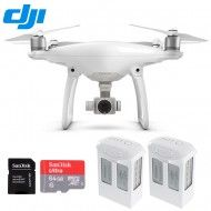 DJI Phantom 4 Drone New Series Quadcopter HD Camera with Two Extra Batteries + One Extra SanDisk 64GB Microsdxc
