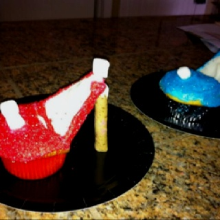 High heeled cupcakes by Sydney Sharp (3rd grade)
