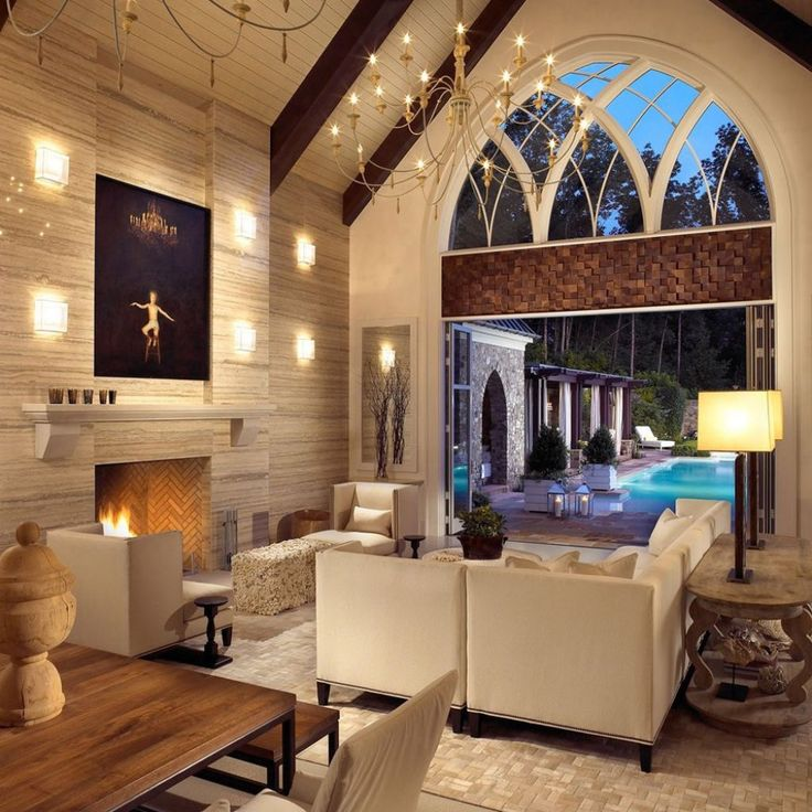 Interior Designs For Living Rooms With Vaulted Ceilings