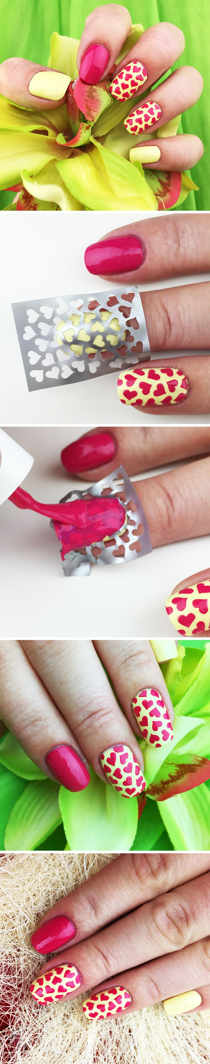 "Nail Stencils design ""Love Potion"" #nailart by #Unail ♥•♥•♥"