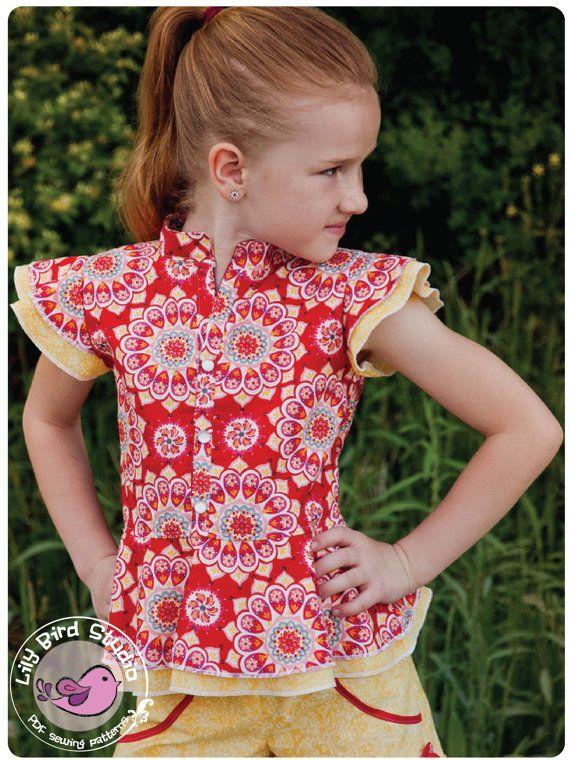 Lily Bird Studio PDF sewing pattern Amy's door TheLilyBirdStudio