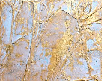 "Gold leaf, Abstract, gift, 16x16x0,6"" office decor, mixed media, gold, wall decor, art, golden Art, contemporary, wall art, artworks, #63"