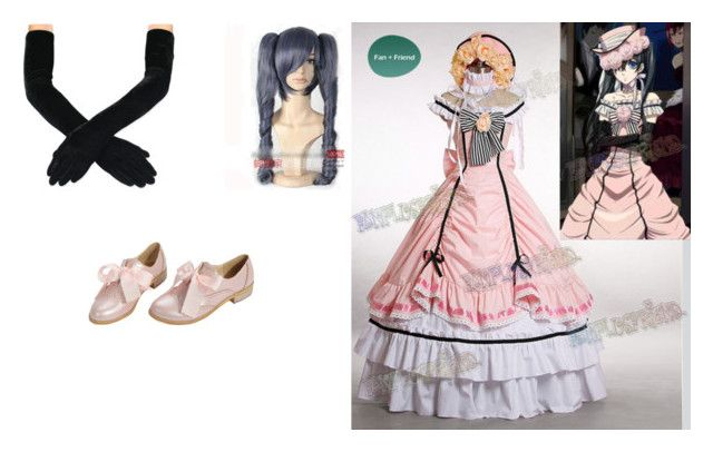 female ciel phantomehive by mayleneholm on Polyvore featuring Ciel and Coshome