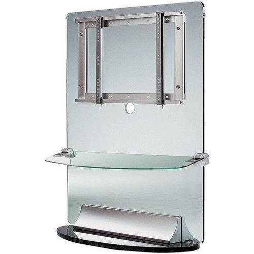 """23""""-42"""" Flat Panel TV Wall Unit with Acrylic & Steel Shelf"""