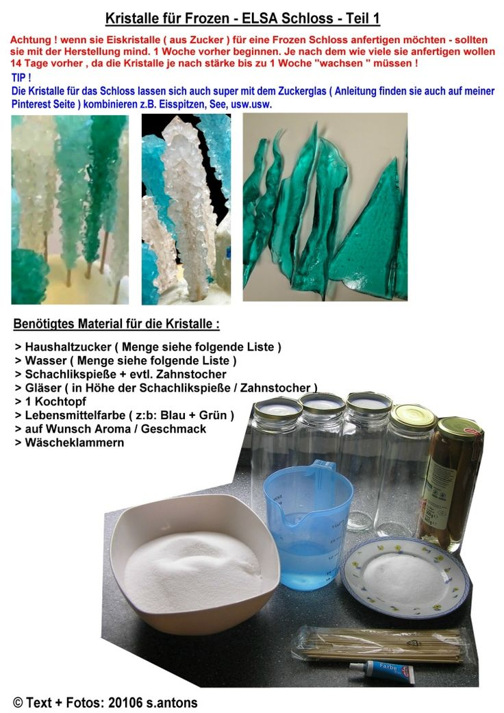 Eiskristalle aus zucker teil 1 f r ein ela frozen - Sideboard deko ...