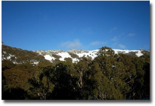 Melbourne Weather In July- Snow on Mt Buller compliments of http://www.flickr.com/photos/waikin/875821914/