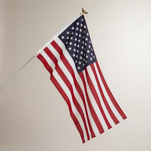 One of my favorite discoveries at WorldMarket.com: American Flag with Pole Kit