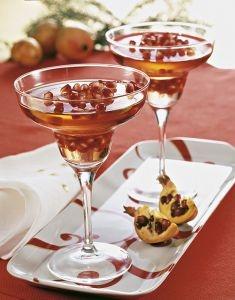 Gelatina di champagne rosé con melagrana