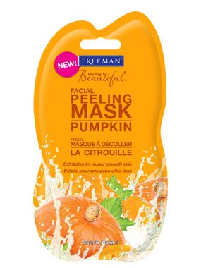 NEW Pumpkin Peeling Mask from Freeman Beauty! Our fast-acting 7-minute peel has highly active enzymes  Alpha Hydroxy Acids to reveal sensationally toned skin that's brighter than EVER! #freemanbeauties