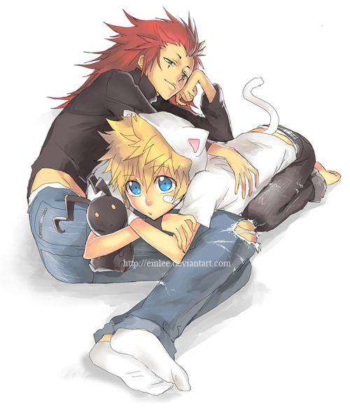 roxas and axel by *einlee on deviantART