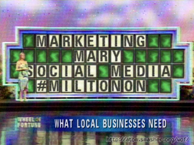 Marketing Mary Social Media #MiltonOn
