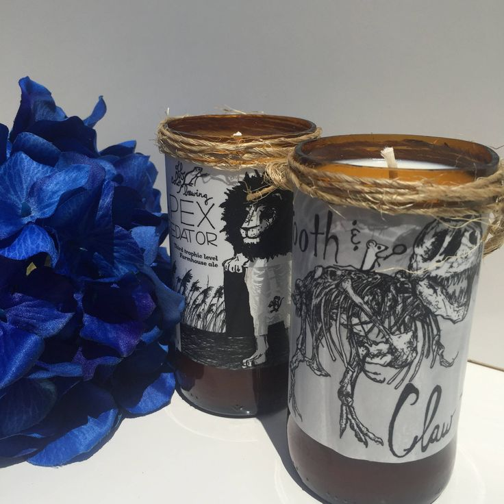 Apex Predator and Tooth and Claw Beer Candles by BroskiBeerCreations on Etsy
