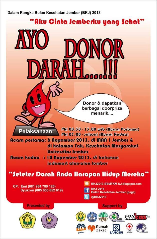 Donor Darah dalam rangka Bulan Kesehatan Jember 2013 | Fakultas Kesehatan Masyarakat Universitas Jember