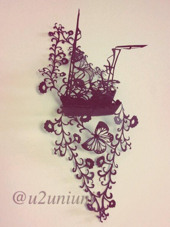 3D paper cutting art by Uni