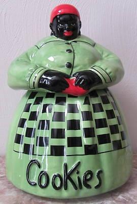 Mammy Aunt Jemima Ceramic Cookie Jar Signed McCoy Black Americana