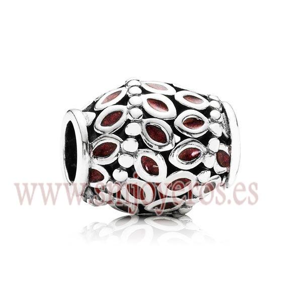 Charm Pandora de plata de ley con esmalte color burdeos.  REFERENCIA: PA791035EN33  Fabricante: Pandora
