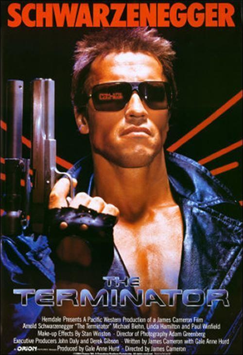 """The Terminator"" (1984). COUNTRY: United States. DIRECTOR: James Cameron. CAST: Arnold Schwarzenegger, Linda Hamilton, Michael Biehn, Paul Winfield, Lance Henriksen"