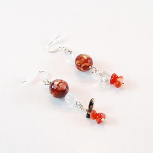 Orecchini Fuoco  Fuoco Earrings by Daffodil Bijoux