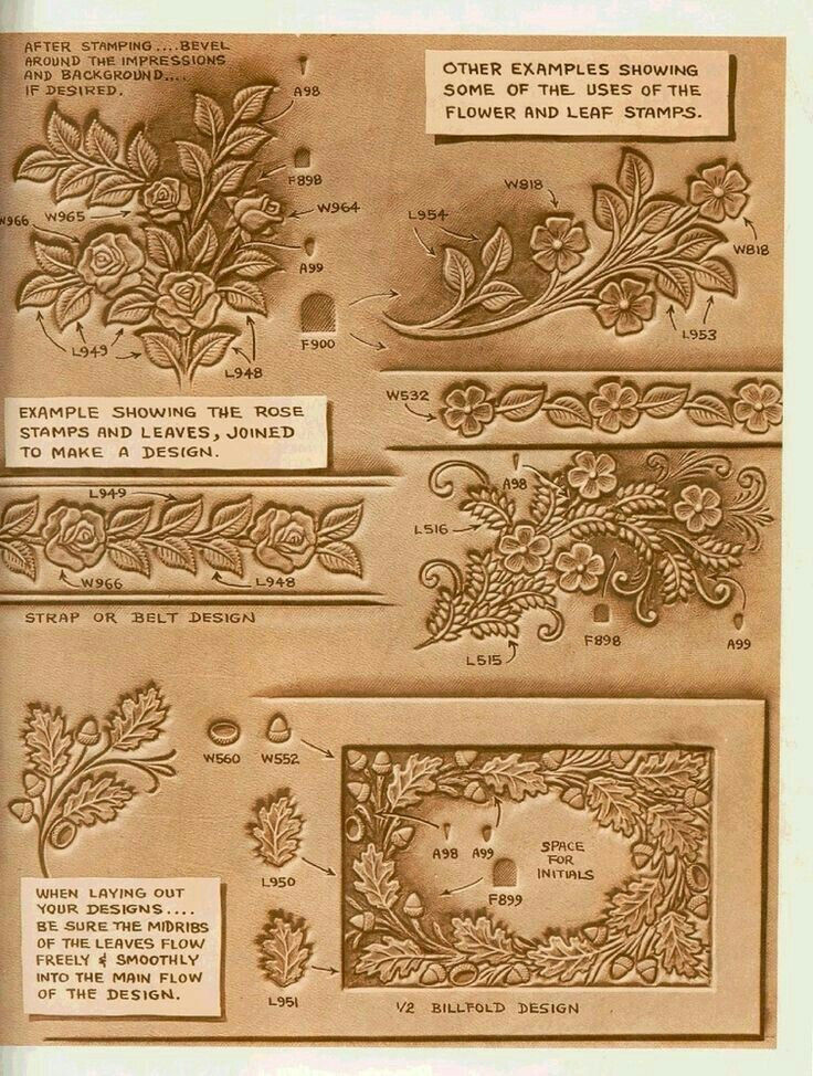 Ideas about leather carving on pinterest