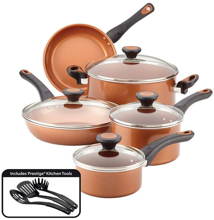 Farberware Glide Copper Ceramic 12 Pc Cookware Set Reviews