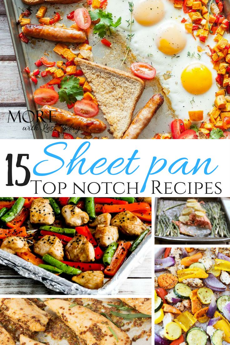 If you want to get good food on the table fast, try these Sheet Pan Recipes - One Dish Meals. Not only is the prep easy, you can clean-up in no time!
