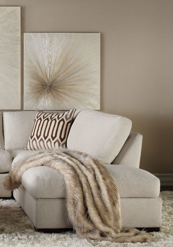 Cozy Glam: Sechura Throw, Del Mar Sectional