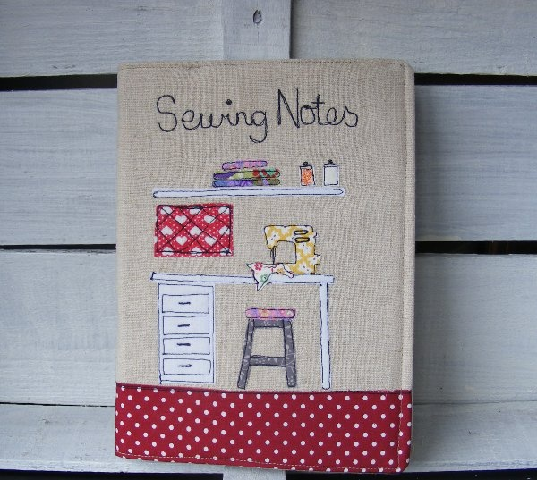 Funda para cuaderno de costura   -   Cover for sewing notebook