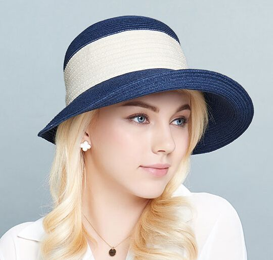UV package crimping sun hat for women summer straw hats