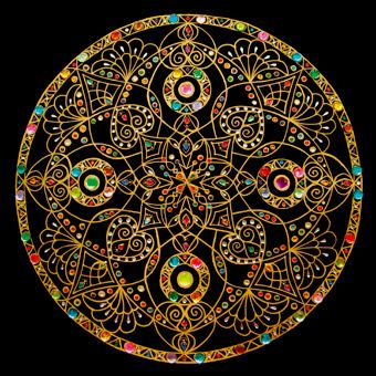 Lots of pretty mandalas on this artist's page, although many of them are in rather garishly bright colors.