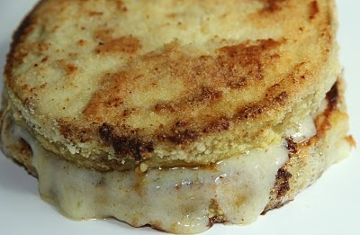 """""""healthified grilled cheese, made with either eggplant or tomato"""