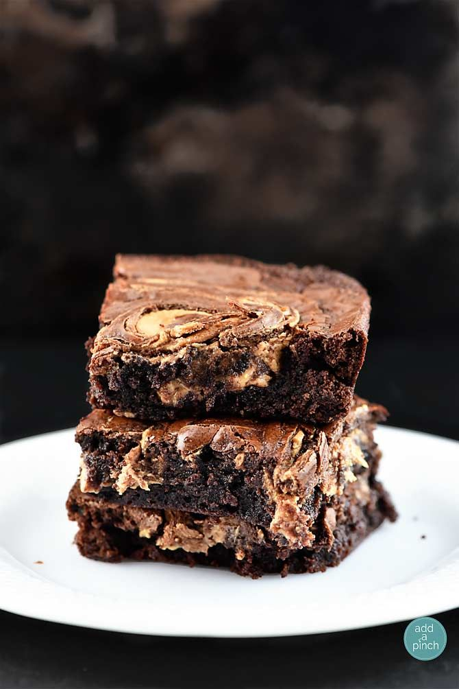 Peanut Butter Marbled Brownies. Peanut butter and brownies make for one delicious combination! Marbled together, they are out of this world.