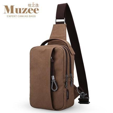 Muzee 2017 Summer High Capacity Chest Crossbody Bag For Men