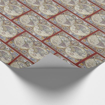 Antique World Map #3 Wrapping Paper - wrapping paper custom diy cyo personalize unique present gift idea