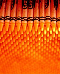 O is for the colour Orange. It's my favourite, it brightens my day.