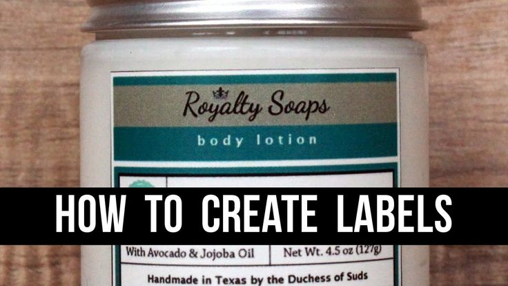 How to Make Product Labels (With 100% Free Software) - A GIMP Tutorial f...
