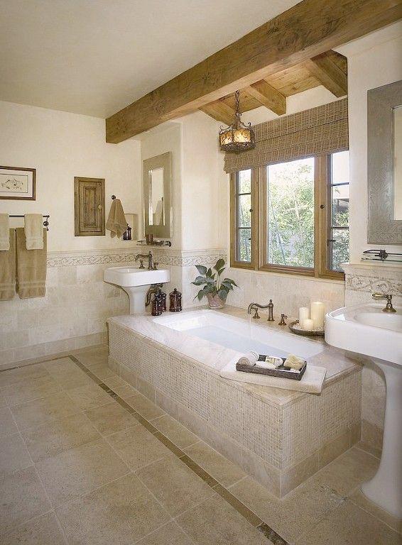 oohm.com.au - Natural, earthy stone bathroom..