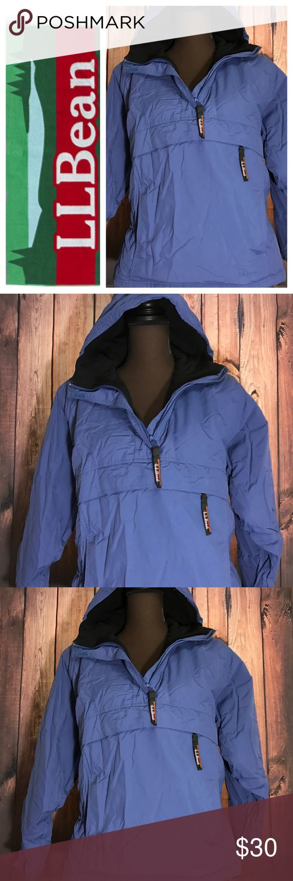 Blue Hoodie LL Bean Women SP L.L. Bean brand for women Hoodie jacket 1/4 zip up With front  zip up pocket Elastic waist Size small petite Length 24.5 inches Pit to pit 22 inches Good condition  (F) L.L. Bean Jackets & Coats