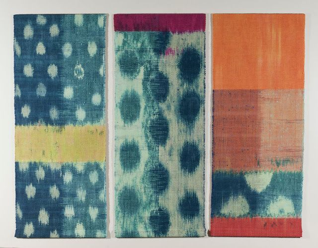 Ann Roth Shadow of the Silk Road warp and weft ikat