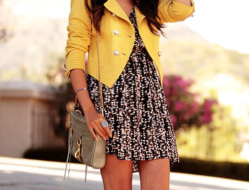 .: Fashion, Style, Clothes, Dream Closet, Outfit, Dresses, Yellow Jackets, Yellow Blazer