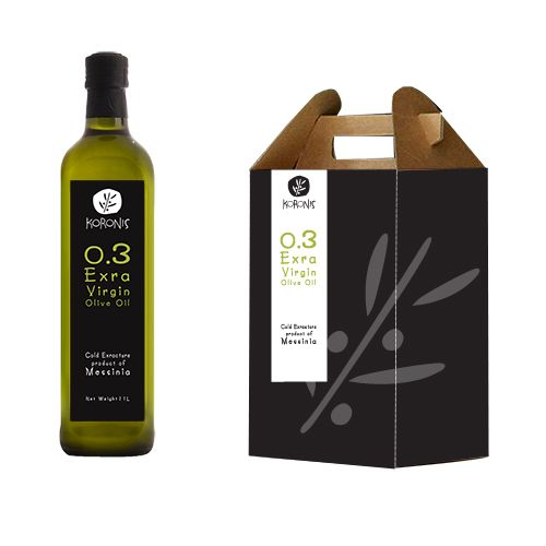 koronis olive oil by Philippos Avramides, via Behance