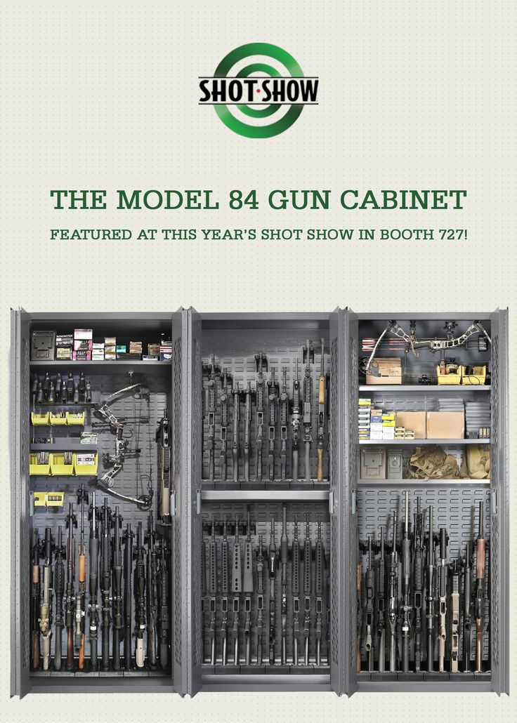 If you'll be at SHOT Show next week, be sure to check out our booth 727 for a closer look at The Model 84 Gun Cabinet. Configures to your personalized firearm storage needs!