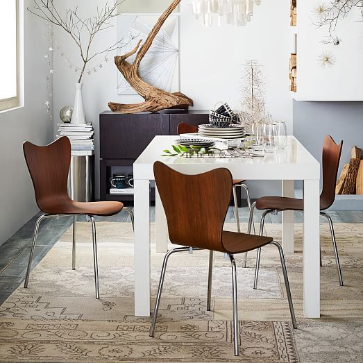 Parsons dining table rectangle west elm living room for West elm table setting